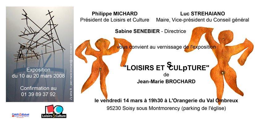 "Exposition ""LOISIRS ET sCULpTURE"" de Jean-Marie Brochard"