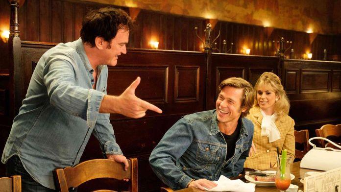 Quentin Tarantino con Brad Pitt