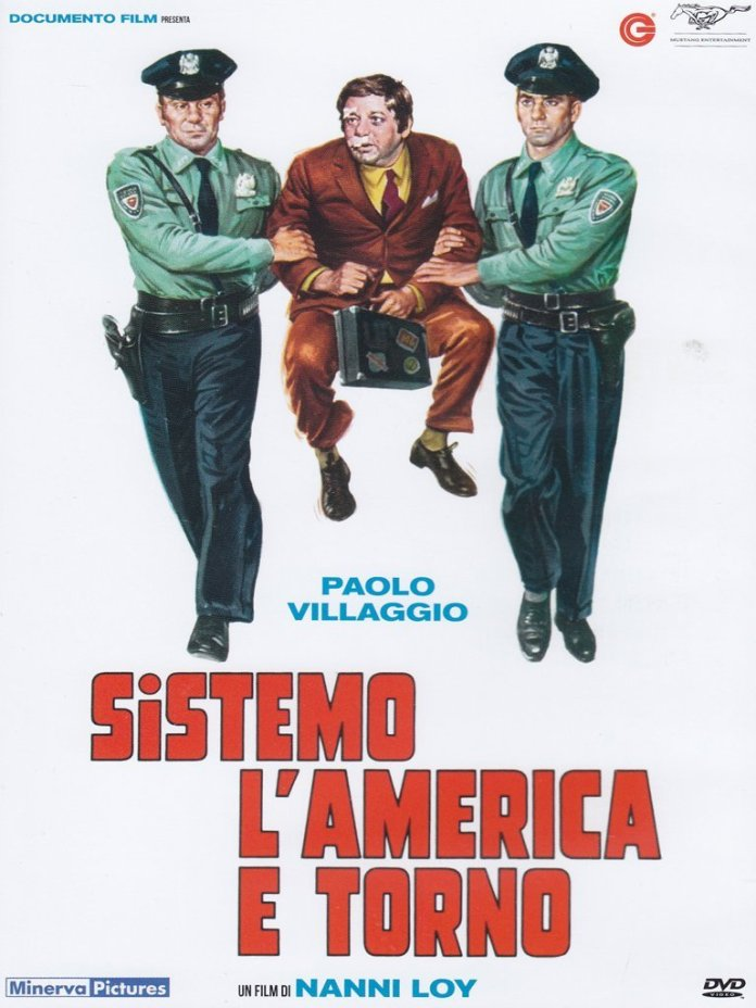 Nanni Loy racconta gli Stati Uniti con la commedia Sistemo l'America e torno (1974). Interpretato da Paolo Villaggio, Armando Brancia e Rita Savagnone.