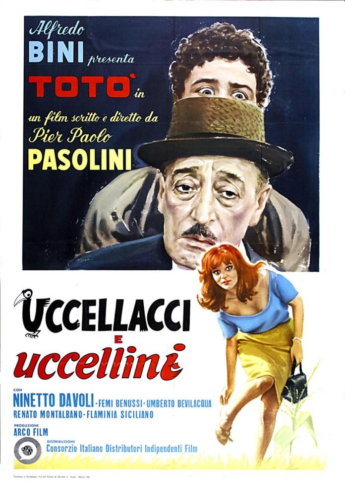 Uccellacci e uccellini, anno 1966, regia di Pier Paolo Pasolini.