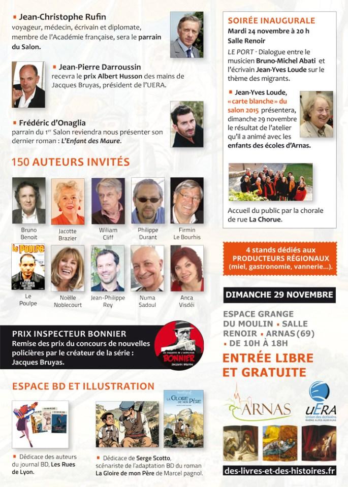 flyer 2ème Salon du livre Arnas/Beaujolais