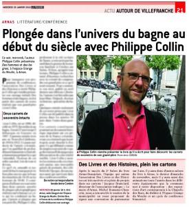 Le Progrès - Plongée dans l'univers du bagne au début du siècle avec Philippe Collin