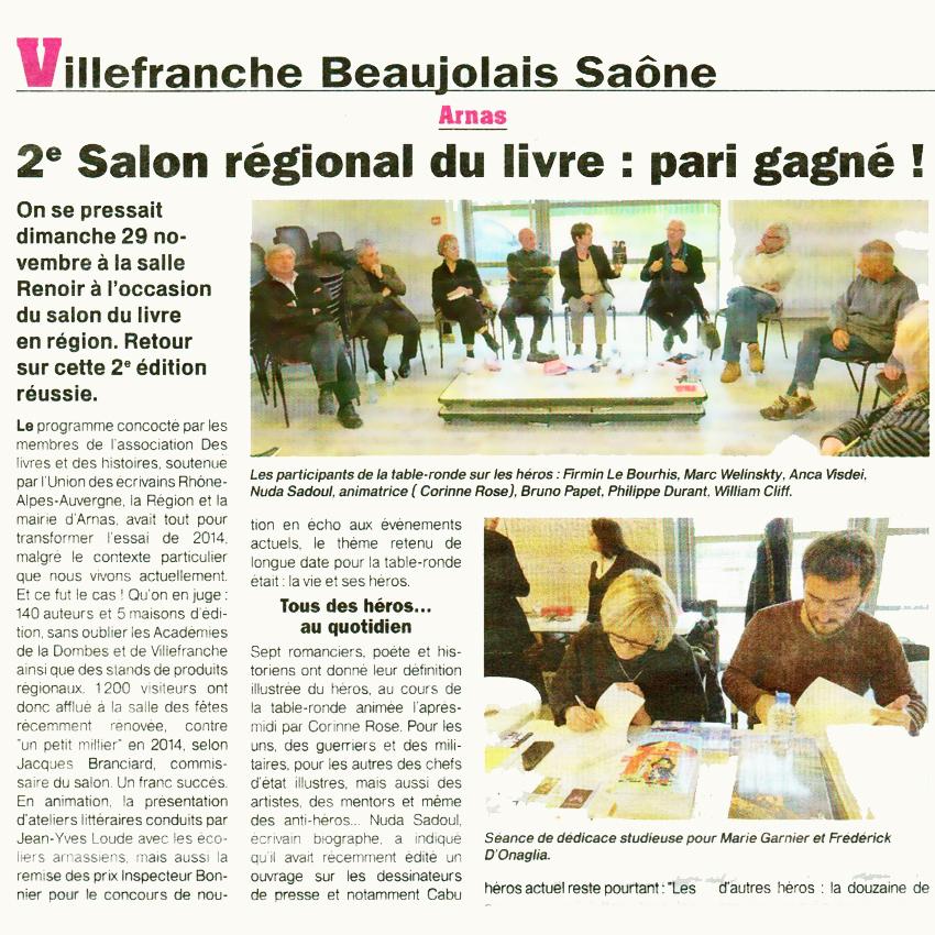 Dossier de presse 2e salon du livre arnas beaujolais - Salon du livre toulon ...