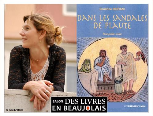 Cendrine Bertani invitée du 3e salon Des Livres en Beaujolais
