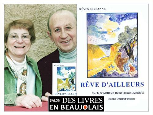 Henri-Claude Lapierre et Nicole, invités du 3e salon Des Livres en Beaujolais