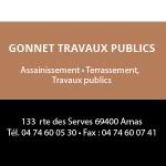 Gonnet Travaux Publics Partenaire du salon Des Livres en Beaujolais