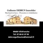 Guillaume Debrun Immobilier Partenaire du salon Des Livres en Beaujolais