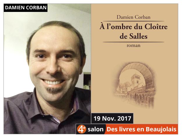 Damien Corban invité du 4e salon Des Livres en Beaujolais