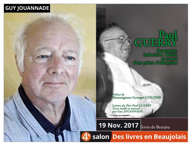 Guy Jouannade invité du 4e salon Des Livres en Beaujolais