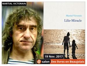 Martial Victorain invité du 4e salon Des Livres en Beaujolais