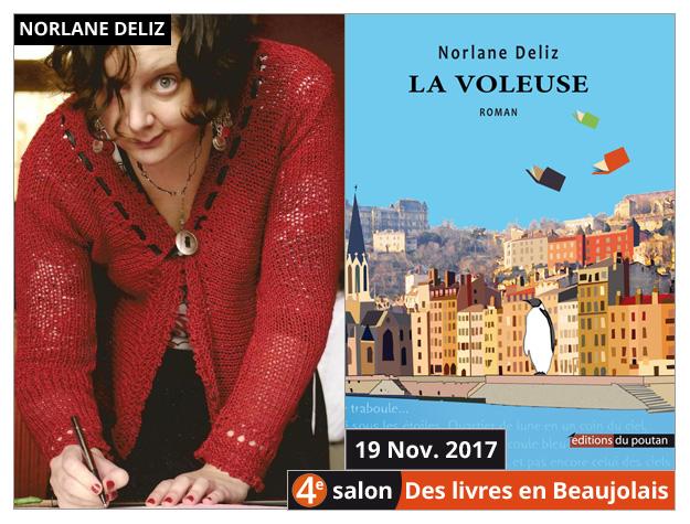 Norlane Deliz invitée du 4e salon Des Livres en Beaujolais