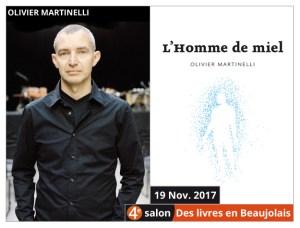 Olivier Martinelli invité du 4e salon Des Livres en Beaujolais