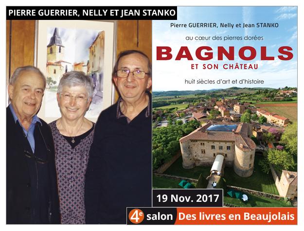 Pierre Guerrier, Nelly et Jean Stanko invités du 4e salon Des Livres en Beaujolais