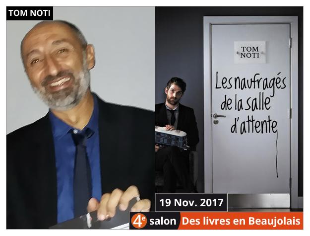 Tom Noti invité du 4e salon Des Livres en Beaujolais