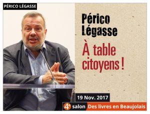Périco Légasse invité du 4e salon Des Livres en Beaujolais