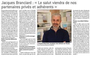 Jacques Branciard Le salut viendra des partenaires du salon des livres LeProgres171029
