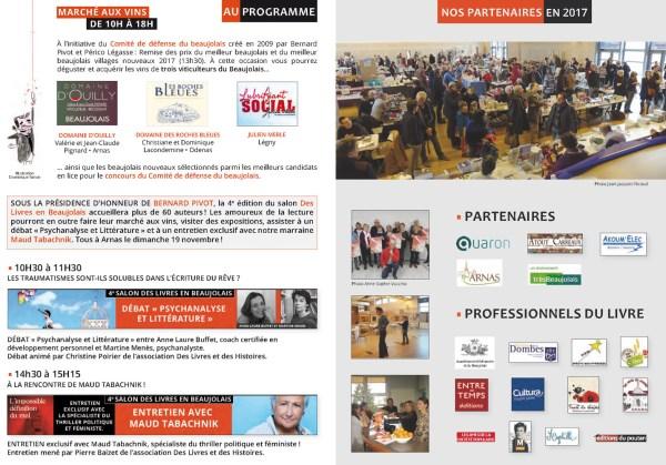 Programme du 4e salon Des Livres en Beaujolais - 3