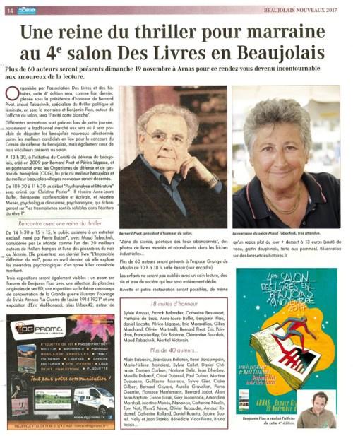 Le patriote salon des livres en beaujolais 171109