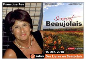 Françoise Rey Marraine du salon Des Livres en Beaujolais2018 !