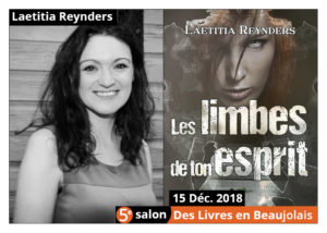 Laetitia Reynders invitée d'honneur 5e salon Des Livres en Beaujolais