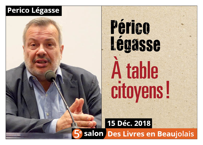 Périco Légasse invité d'honneur du 5e salon Des Livres en Beaujolais