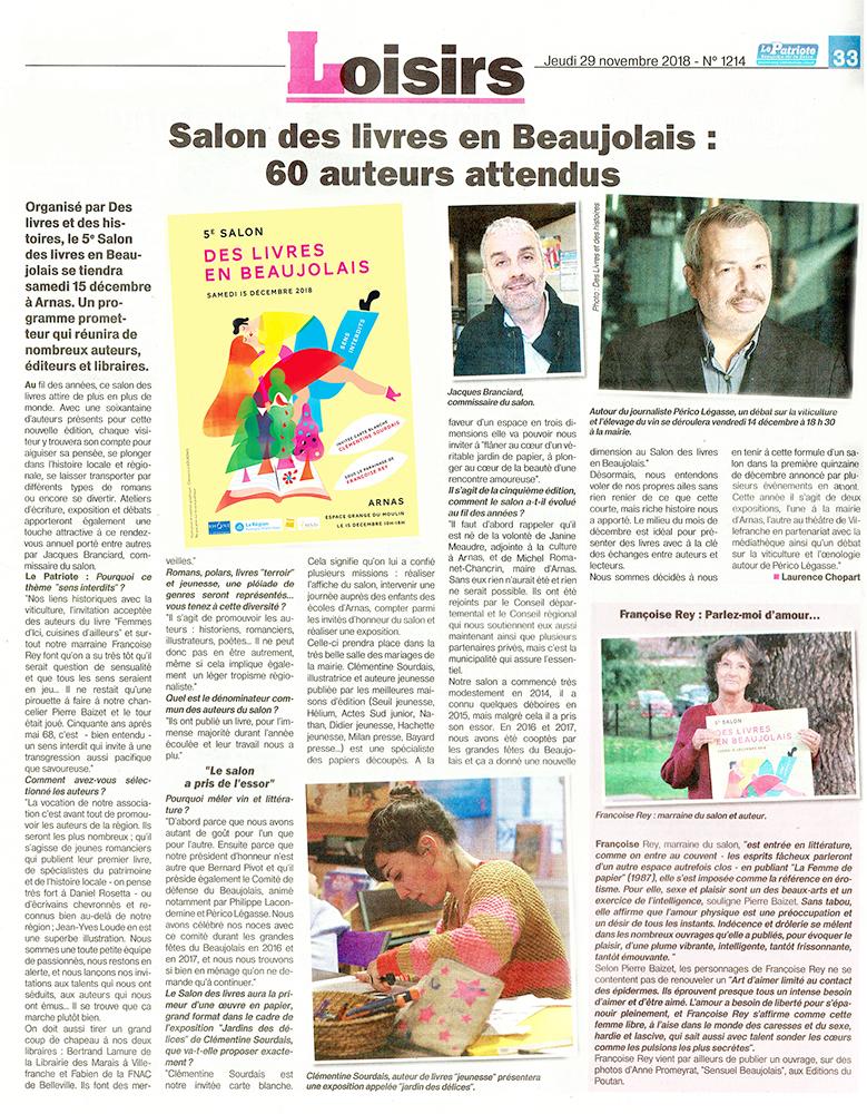 5e salon Des livres en Beaujolais : 60 auteurs attendus