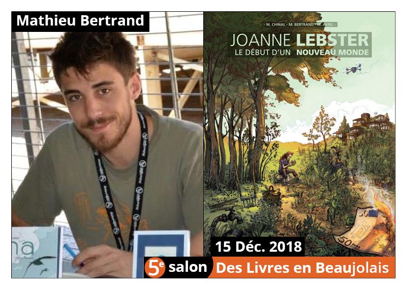 Mathieu Bertrand invité d'honneur du 5e salon Des Livres en Beaujolais