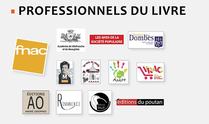 Logos professionnels du livre 2018