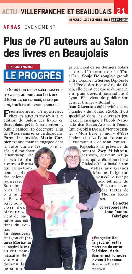 Plus 70 auteurs au Salon Des Livres en Beaujolais  - Le Progrès