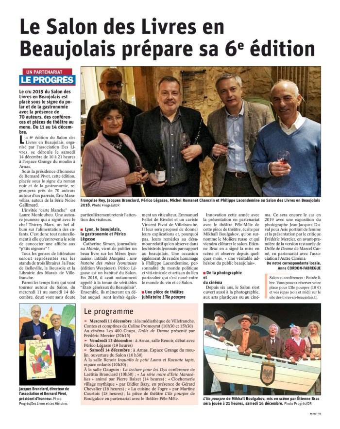 Le Salon des Livres en Beaujolais prépare sa 6e édition - Le Progrès