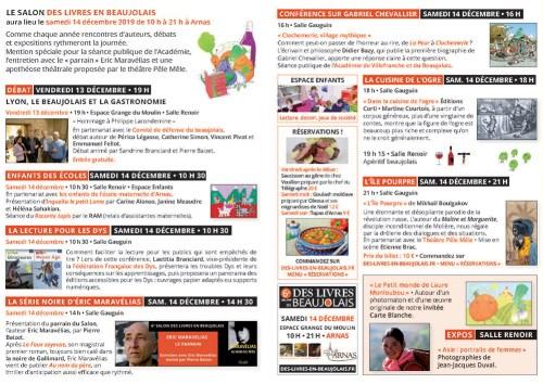 Programme salon des livres en beaujolais 2019 page 1