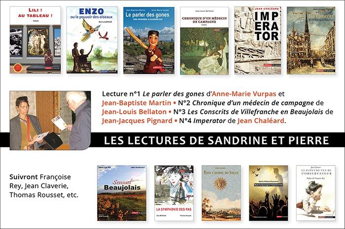 Les lectures de Sandrine et Pierre