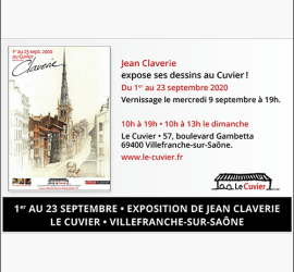 Expo jean claverie le cuvier sept 2020