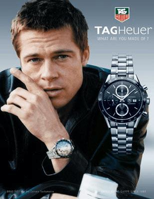 Pub montre Brad Pitt : aucune fonctions listées