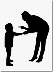 l'adulte opte assez naturellement pour la position de pouvoir face à l'enfant