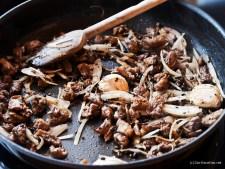 Pavé de rumsteak sauce au poivre
