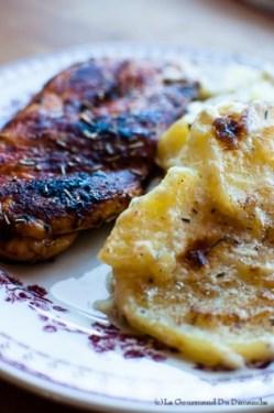 Poulet paprika et gratin façon dauphinois