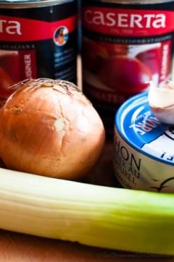 Soupe à la tomate et au thon