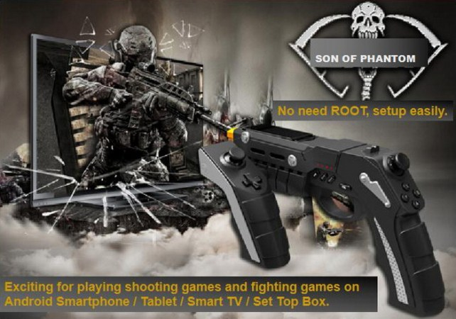 GearBest USA  IPEGA PG 9057 Phantom ShoX Blaster Bluetooth Game Gun      click here for English User Guide