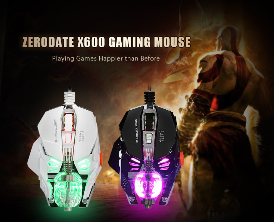 ZERODATE X600 Wired Gaming Mouse with LED Light 2500DPI