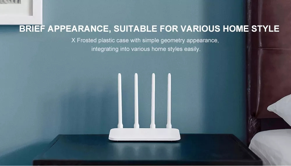 Xiaomi Mi Router 4C 2.4GHz 300Mbps 4 Antennas Wireless Smart Router Global Version- White