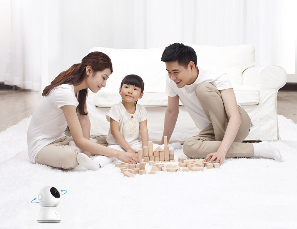 Original Xiaomi 360 Degree Panorama Wireless Smart IP Camera Motion Detection Night Vision 1080P Image- White