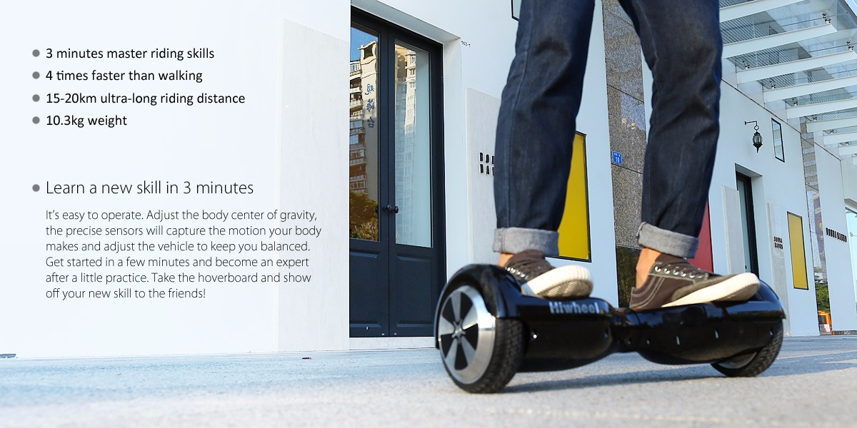 Hiwheel Q3 6.5 Inch Intelligent 2 Wheels Hoverboard Self Balancing Scooter 15 - 20km Mileage