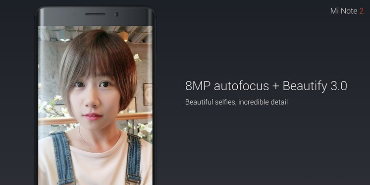 Xiaomi Mi Note 2 5.7 inch Arc Screen 4G Phablet MIUI 8 or Above Snapdragon 821 Quad Core 22.56MP Rear Camera Type-C Quick Charge 3.0