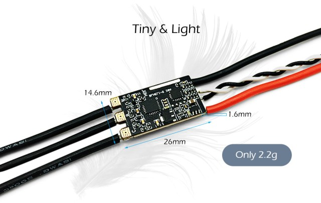 HGLRC BS28A BLHeli - S 28A ESC DShot Support Compatible with 2 - 5S LiPo for FPV Racing Drones