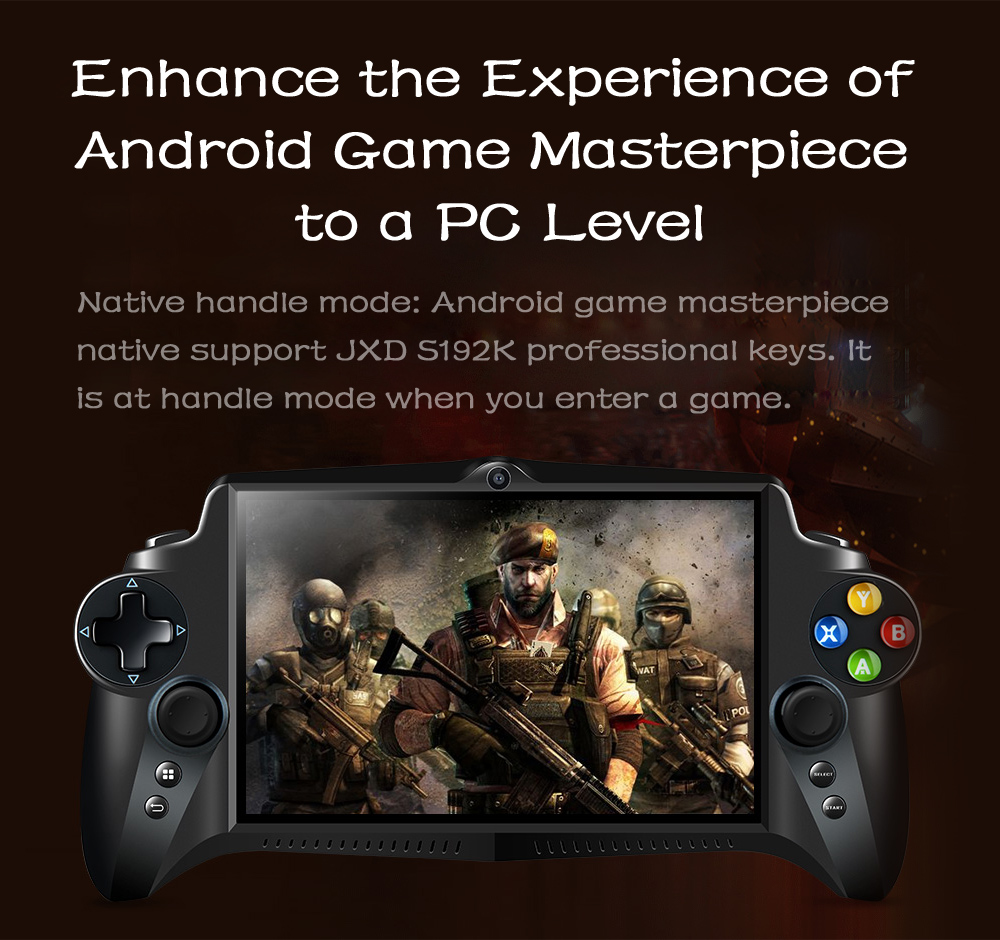 JXD S192K Game Phablet 7 pouces IPS Screen Gamepad