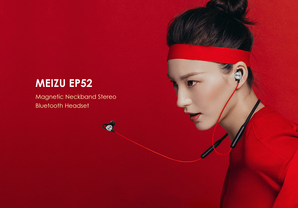 MEIZU EP52 Magnetic Neckband Waterproof Bluetooth Sports Earbuds with Mic