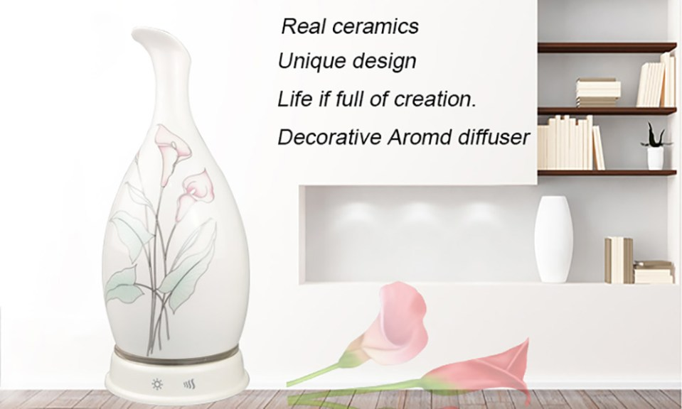 Ceramic Electric Aromatherapy Essential Oil Aroma Diffuser LED Night Light