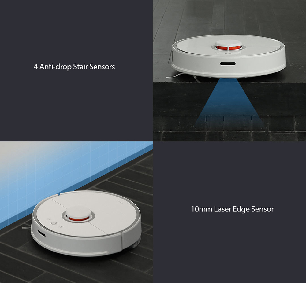 Aspirateur intelligent d'origine Xiaomi Intelligent Sensors System Path Planning