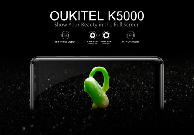 OUKITEL K5000 4G Phablet Android 7.0 5.7 inch MTK6750T Octa Core 1.5GHz 4GB RAM 64GB ROM 16.0MP Rear Camera Fingerprint Scanner